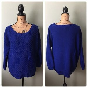 American Eagle Outfitters cobalt blue knit sweater